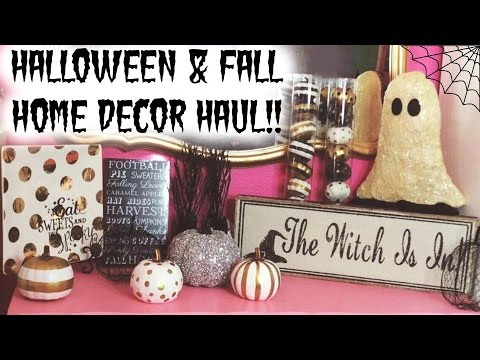 Halloween Home Decor Haul ♡ HomeGoods, Target, Hobby Lobby, Marshall's, & JoAnn Fabrics