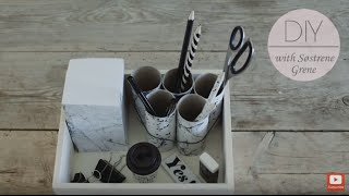 Diy: Pencil Holder With Foil And Paper Tubes By Søstrene Grene