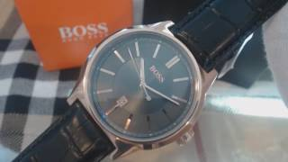 Men's Rose Gold Hugo Boss Architecture Leather Strap Watch 1513073