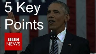 Five key points from Obama's State of the Union speech - BBC News