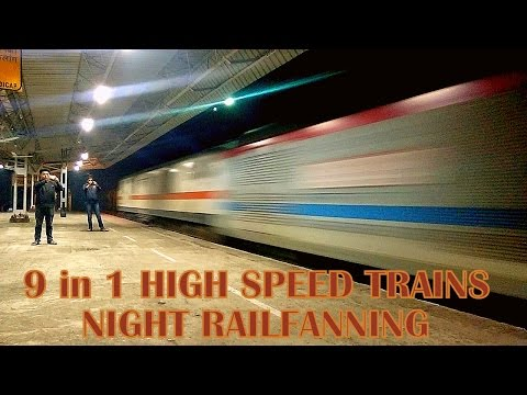 HIGH-SPEED NIGHT RF: 9 in 1 Rajdhani-Duronto Combo Sparkling Through the Dark at Top Speed