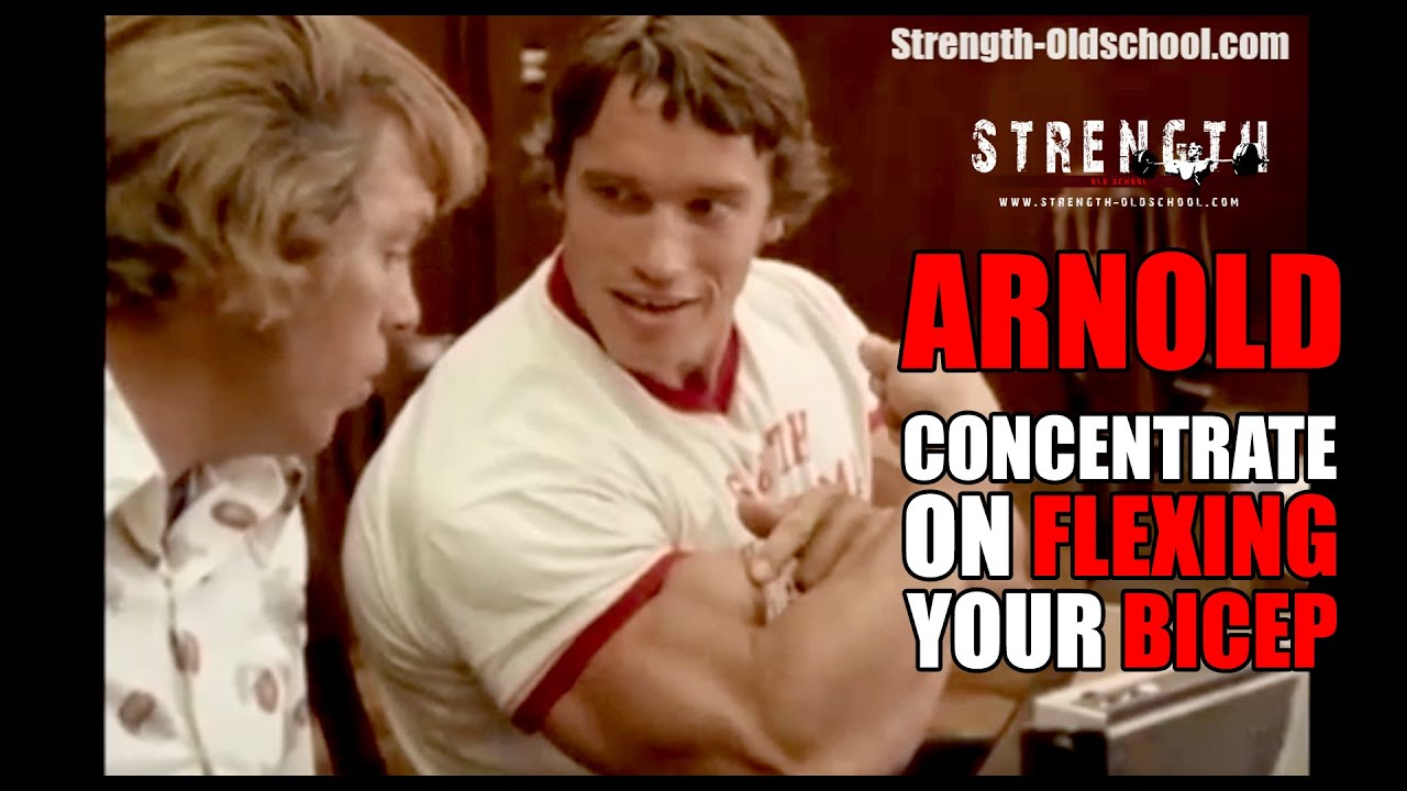 Arnold schwarzenegger concentrate on flexing your bicep youtube malvernweather Choice Image
