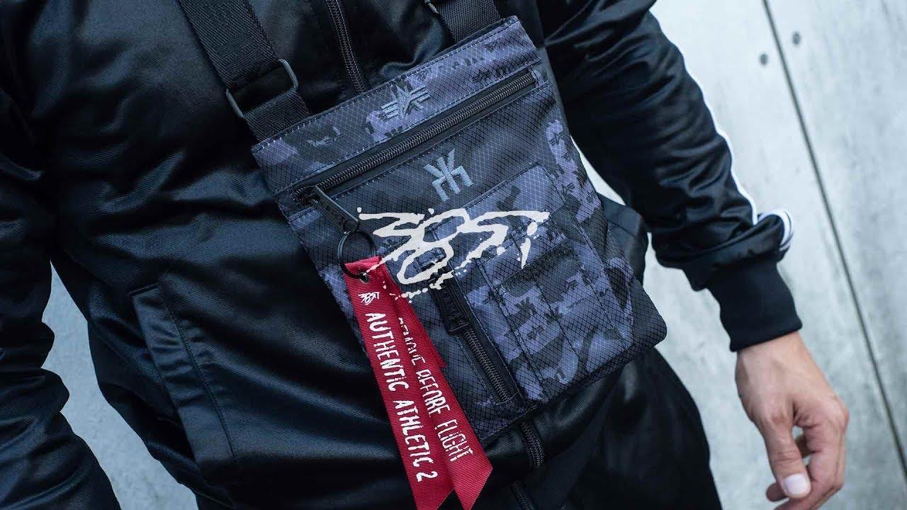 new product 11afc 1dc54 Olexesh - Authentic Athletic 2 BOXINHALT #1 / Alpha Purple Camo Bag