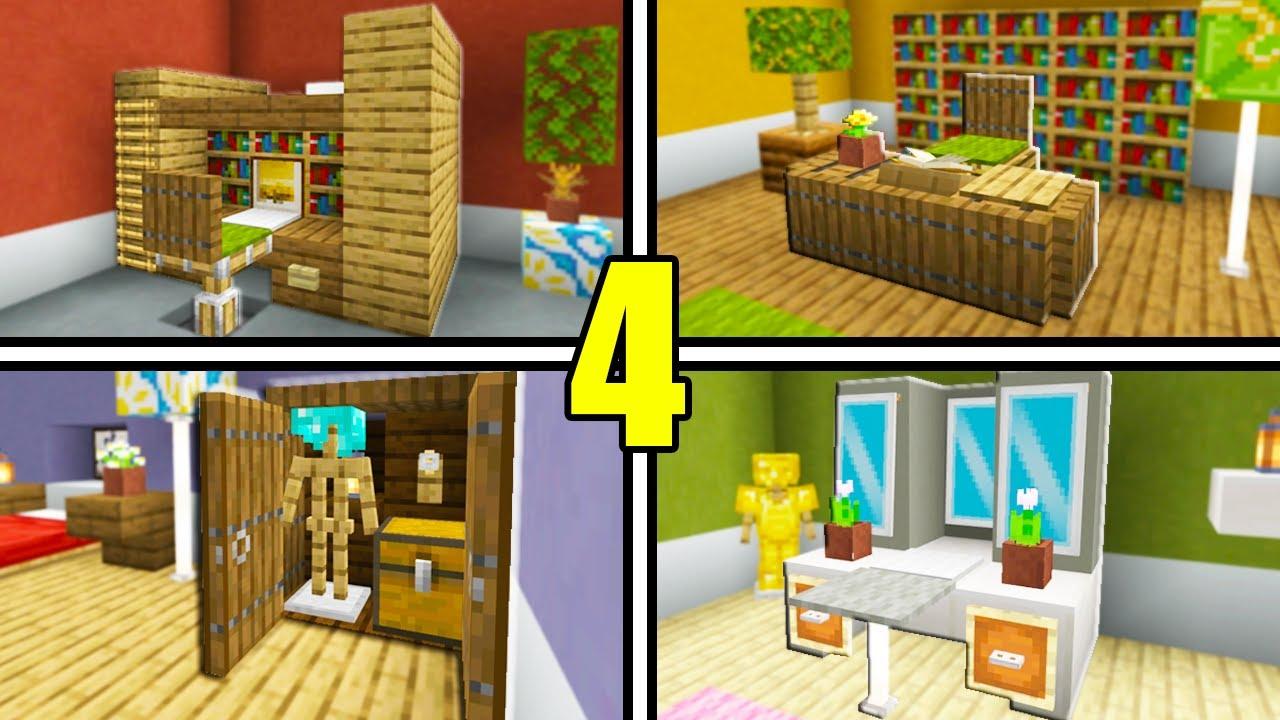 5 Minecraft Bedroom Furniture Decoration Ideas!