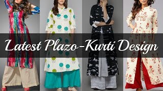 Latest Plazo With Kurti Design 2018