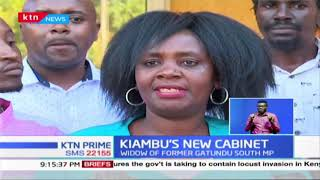 Widow of former Gatundu South MP Joyce Ngugi nominated Kiambu deputy Governor