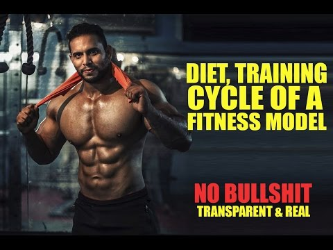 Fitness model diet, cycle and training