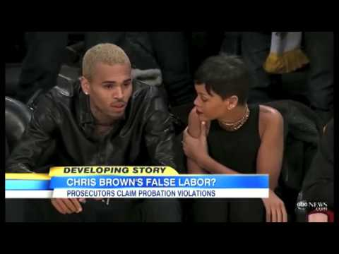 Chris Brown & Rihanna Lakers Game