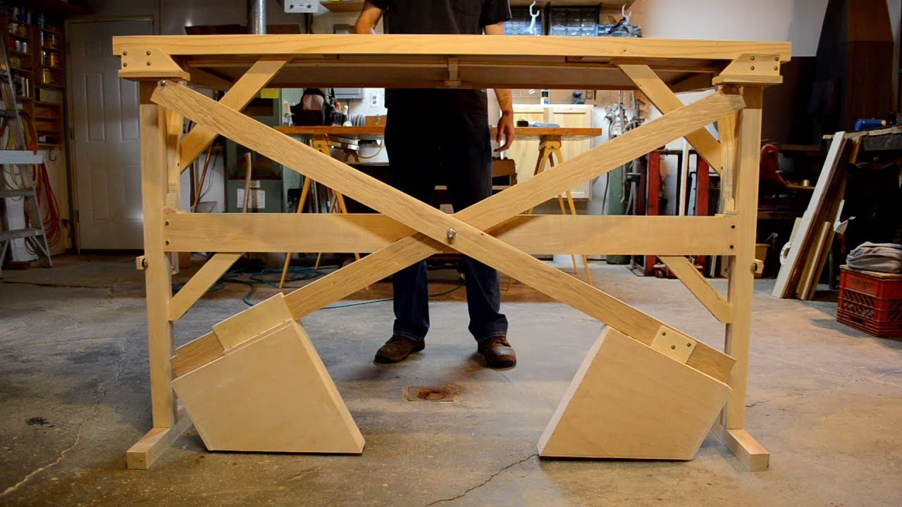 Wooden Counterweight Desk Or Table Youtube