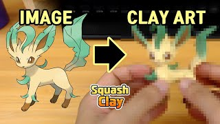 Eevee evolved! Sculpting Leafeon Grass-type Pokémon in Clay