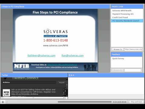 Webinar: 5 Steps to PCI Compliance for Small Businesses Accepting Credit Cards