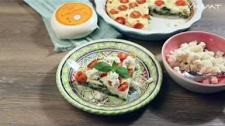 Киш с помидорами черри и кавказским сыром