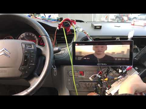 10.25 Inch Horizontal Screen Octa Core  PX5  Android  Head Unit  in Citroen C5 Canbus Test