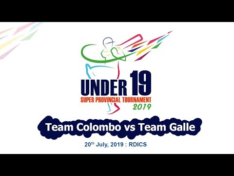 Team Colombo vs Team Galle - U19 Super Provincial 50 Over Tournament 2019