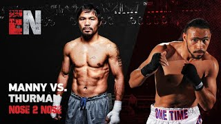 MUST WATCH Faceoff Pacquiao vs Thurman EsNews Boxing