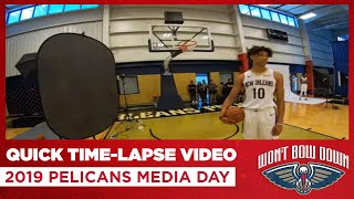 Quick Time-Lapse Video from 2019 Pelicans Media Day | New Orleans Pelicans