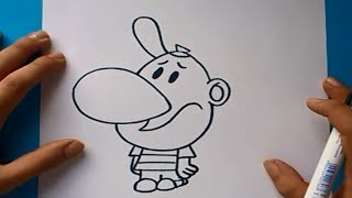 Como dibujar a Billy paso a paso - Las sombrias aventuras de billy y mandy | How to draw Billy