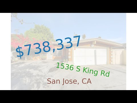 $738,337 San Jose home for sale on 2020-12-23 (1536 S King Rd, CA, 95122)