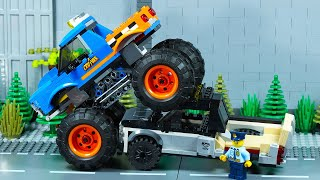 Lego City Monster Truck Crash Bank Robbery