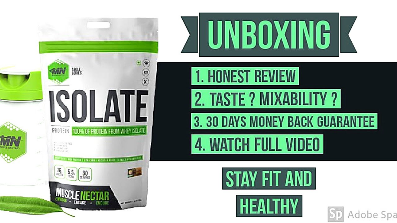 Muscle Nectar whey Protein Isolate All supplement Unboxing Best Protein for Building Muscles