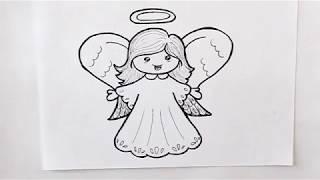 Cómo dibujar un Ángel Dibuja Conmigo
