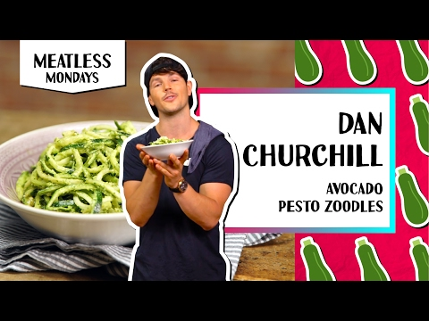 Guiltless Avocado Pesto Zoodles l Meatless Monday-Dan Churchill