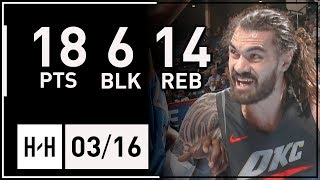 Steven Adams Full Highlights Thunder vs Clippers (2018.03.16) - 18 Pts, 14 Reb, 6 Blocks