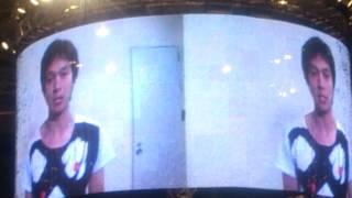 大阪∞祭内の、モニター生中継の中での丸ちゃんの手話告白です!!!手ブレすいま...
