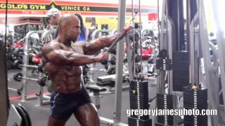Shooting IFBB Pro Bodybuilders at Golds Gym Venice California Gregory James