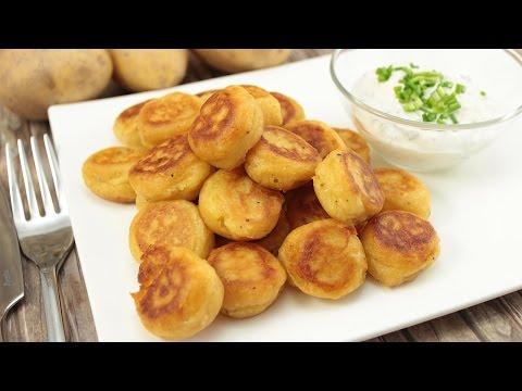 Potato Puffs mit Dipp (knusprig-cremige Kartoffelplätzchen)