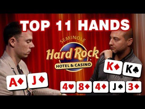 BIGGEST POTS + CRAZIEST HANDS | TOP 11 MOMENTS FROM THE SEMINOLE HARD ROCK