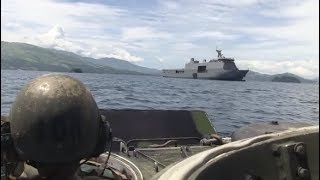 Philippine Navy's BRP Tarlac(LD-601) Conducts Maneuvers with American Amphibious Vehicles
