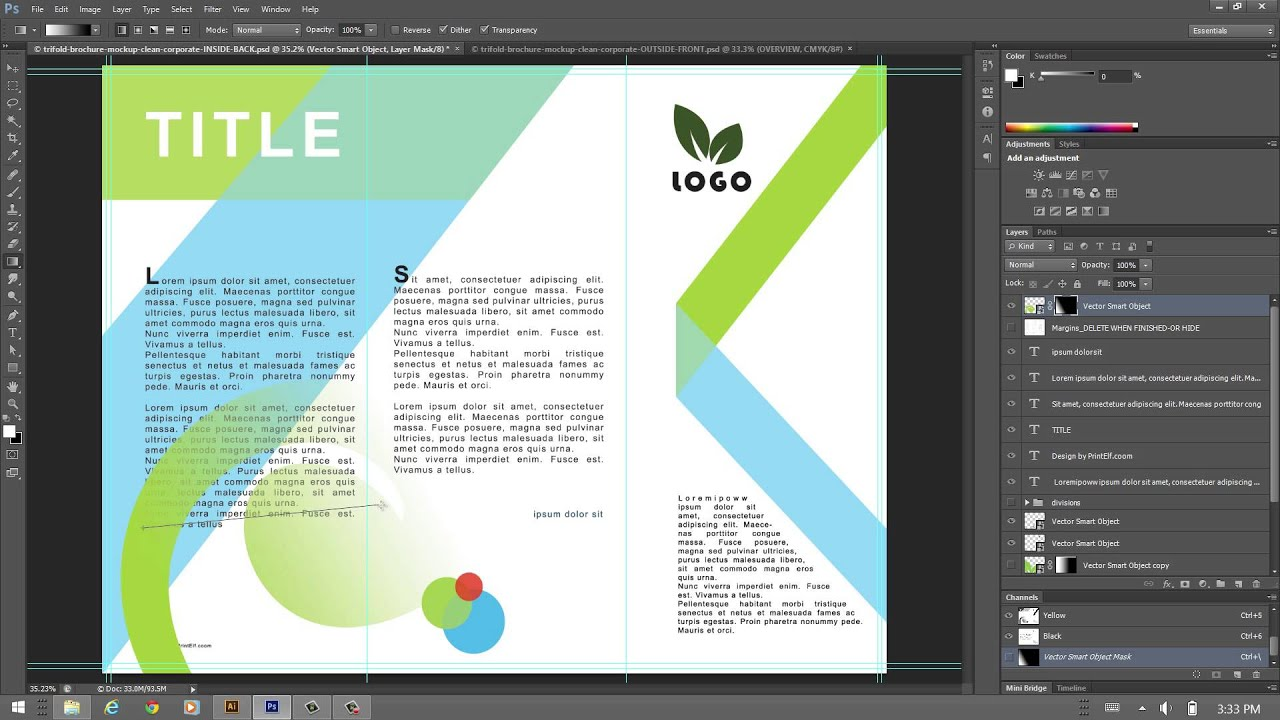 How to design a trifold brochure youtube for Making a blueprint online