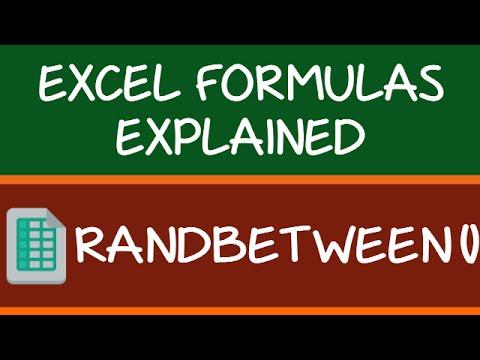 RANDBETWEEN Formula in Excel