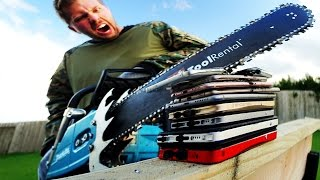 Don't Chainsaw $7,000 Worth of Smartphones!! It don't work too good...