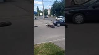 ДТП з мотоциклістом на Гордіюк у Луцьку | Волинські Новини