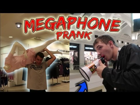 MEGAPHONE IN THE MALL PRANK! (GONE WRONG)
