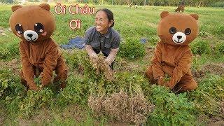 Hưng Vlog - Giả Làm Gấu Lầy Làm Ruộng Phụ Giúp Mẹ Bà Tân Vlog Sẽ NTN