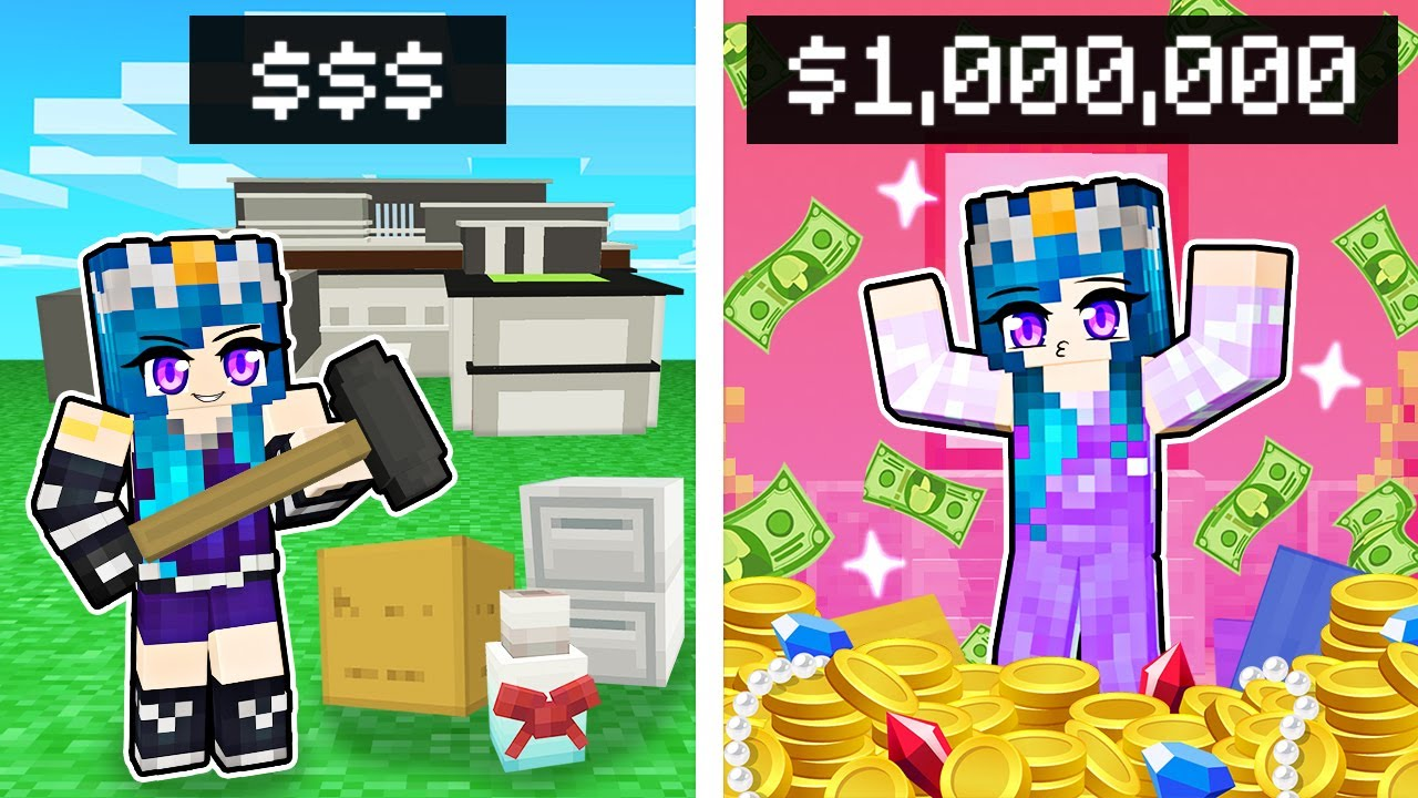 Destroying Minecraft MANSIONS to be RICH!