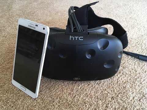 This is how calls and texts look in virtual reality, via the HTC Vive
