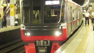 名鉄3300系3308F+3100系3108F金山駅発車