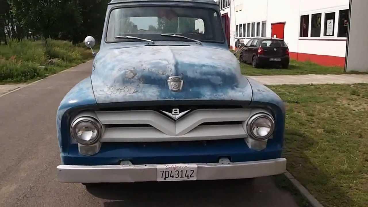 1955 ford f250 stepside longbed pickup v8 von special cars berlin de youtube