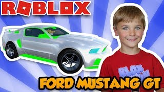 MEINE BRAND NEUE FORD MUSTANG GT in ROBLOX VEHICLE SIMULATOR | DRAG RACES | CAR STUNTS