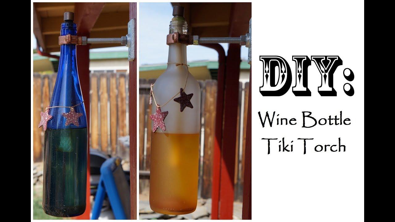 DIY Wine Bottle Tiki Torch