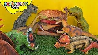 Epic Dinosaur Battle | Skyheart Toys Trex fight velociraptor jurassic world toys