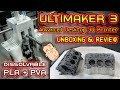 Ultimaker 3 Printer Review - Printing Engine Block with PVA Support