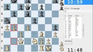 Scandinavian Defence: LIVE Rapid #100 vs Langrokade (1946) - Scandinavian (center counter) (B01)