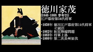 徳川家茂 (1846 ~ 1866) 江戸幕府第14代将軍.