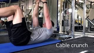 Core Training | Lying Cable Crunch | Rectus Abdominis Development