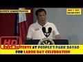 PRESIDENT DUTERTE AT PEOPLE'S PARK DAVAO SPEECH